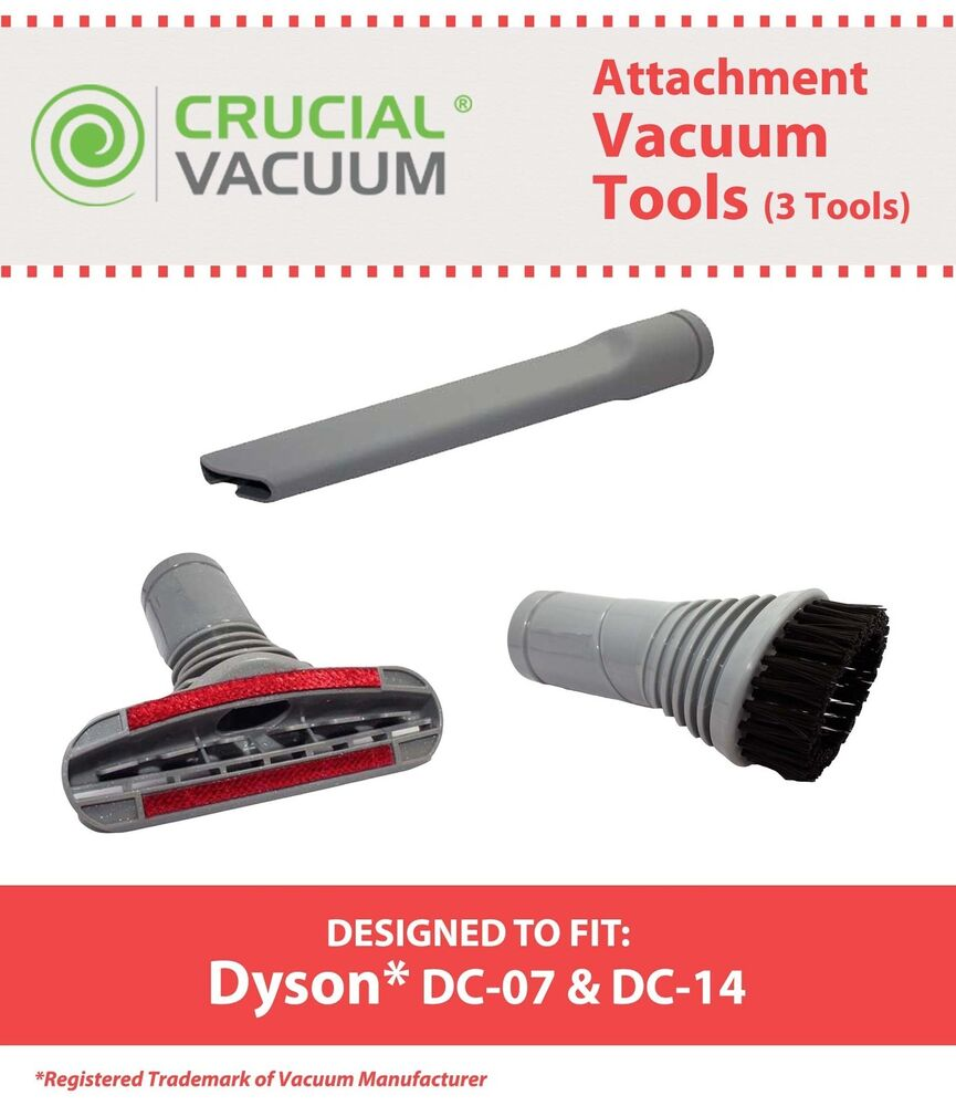 3 vacuum dyson dc07 dc14 crevice upholstery dusting brush attachment tools ebay. Black Bedroom Furniture Sets. Home Design Ideas