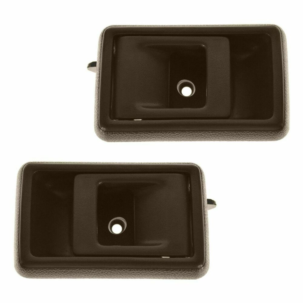 Brown Inner Interior Inside Door Handle Pair Set For Toyota Corolla Pickup Truck Ebay