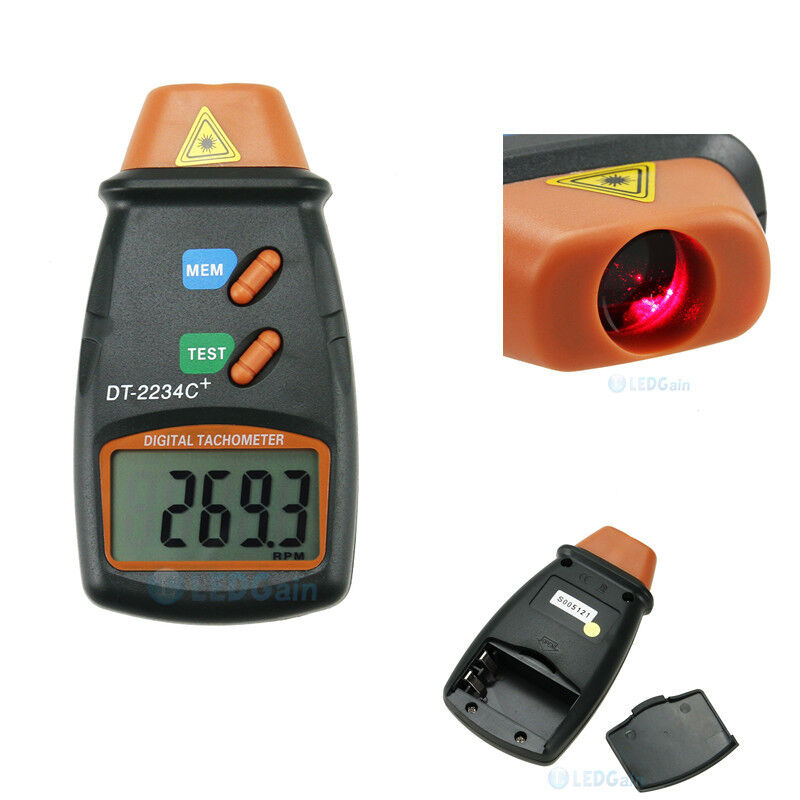 Usa digital laser photo tachometer non contact rpm tach for Tachometer for electric motor