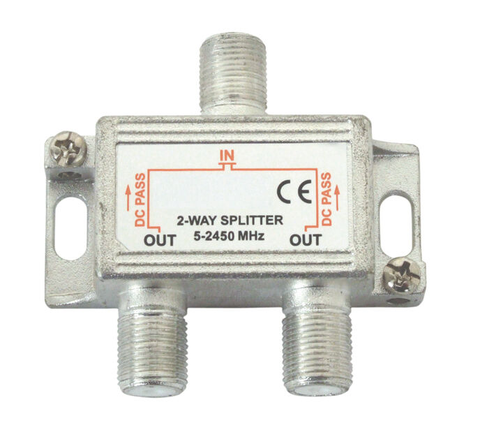 2 Way F Type Aerial Satellite Splitter Combiner Tv Virgin