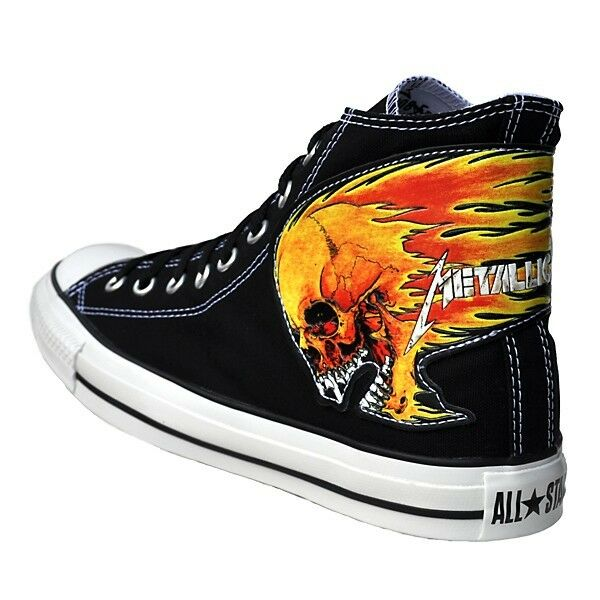 converse chucks metallica schuhe eu 42 uk 8 5 schwarz. Black Bedroom Furniture Sets. Home Design Ideas