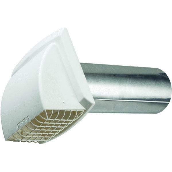 Hood Exhaust Pipe : White quot promax dryer vent hood w aluminum pipe pest