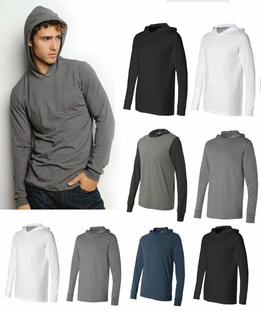 Canvas Unisex Driftwood Long Sleeve Hooded T-shirt Hoodie Tee ...
