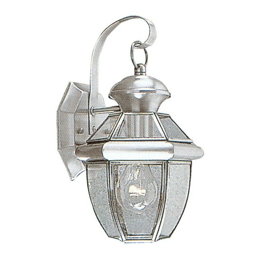 livex lighting monterey outdoor wall lantern in brushed nickel 2051. Black Bedroom Furniture Sets. Home Design Ideas