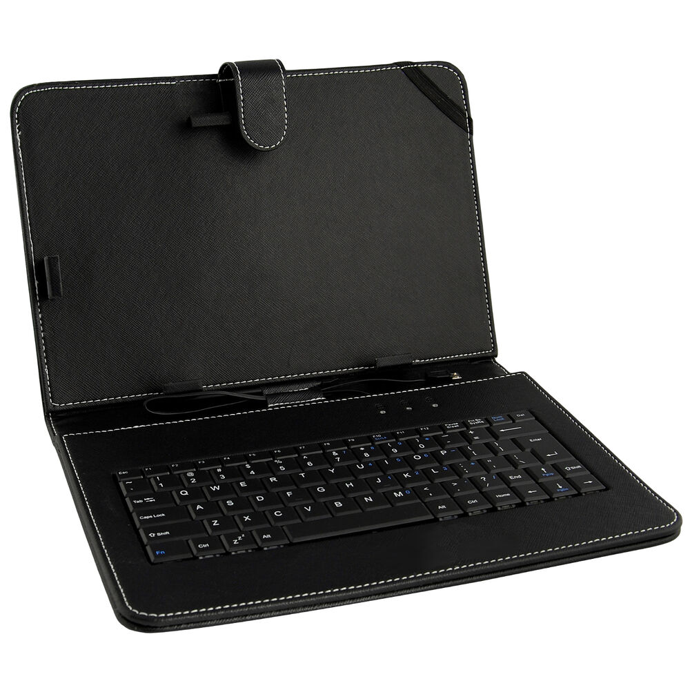 leather tablet pc case w micro usb keyboard for 10 1 android tablet ebay. Black Bedroom Furniture Sets. Home Design Ideas