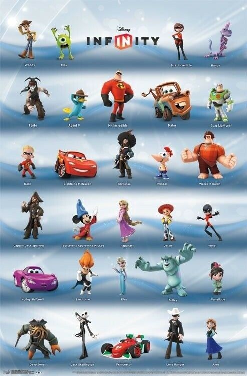 Disney Infinity Poster 29 Characters 22x34 Video Game
