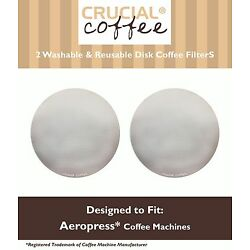 2 Replacements Aerobie AeroPress Washable Disc Coffee Filters