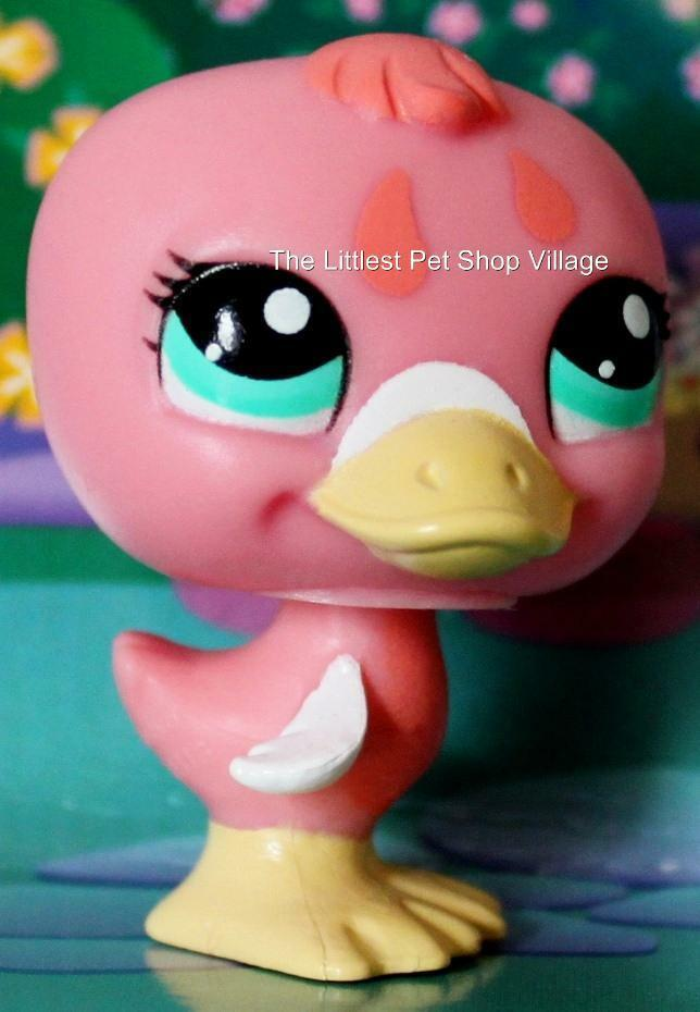 Littlest pet shop rosy pink duckling 1923 new retired for Fish pet shop