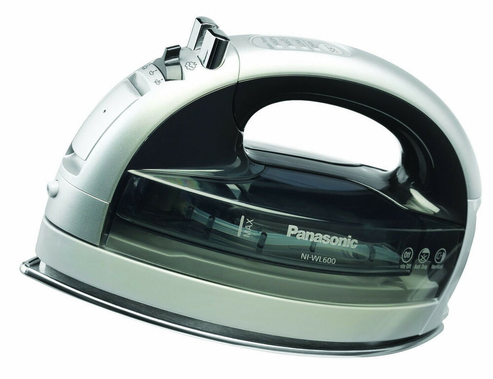 Cordless Steam Iron ~ Panasonic freestyle multi directional cordless steam