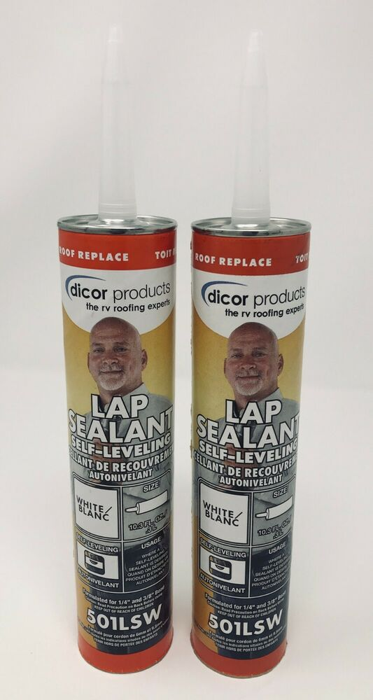 2 Rv Trailer Dicor Epdm Rubber Roof Self Leveling Lap
