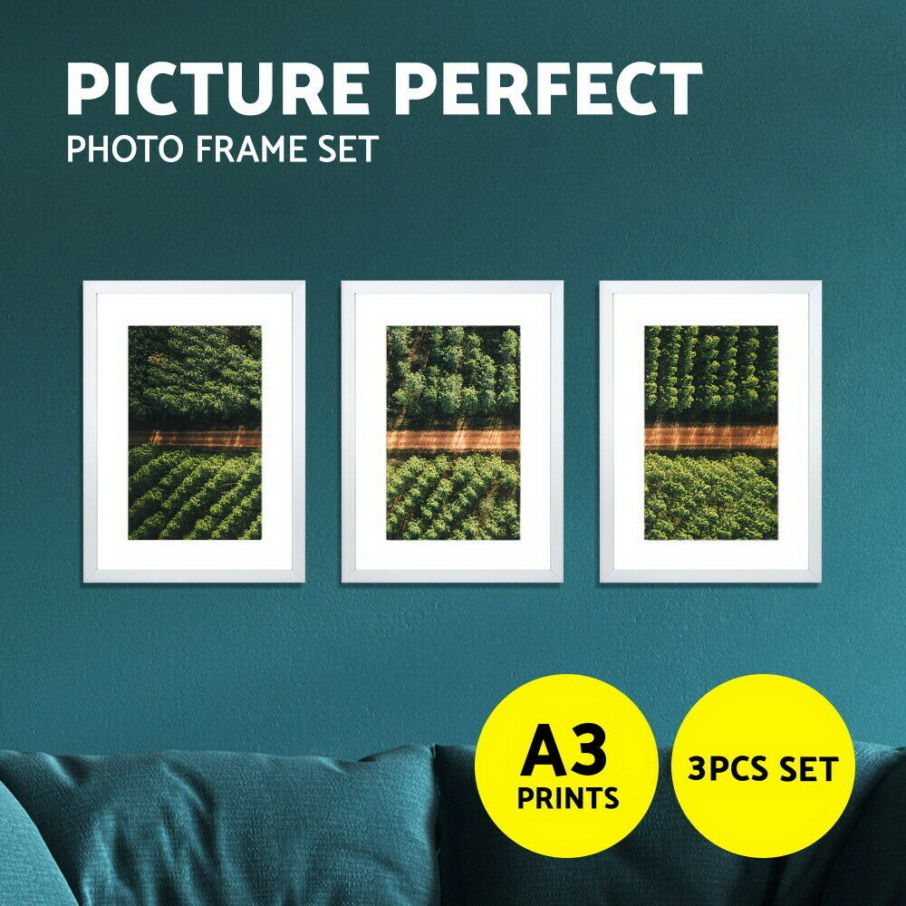 photo frame set 3 pcs a3 white picture wall home decor art gift present