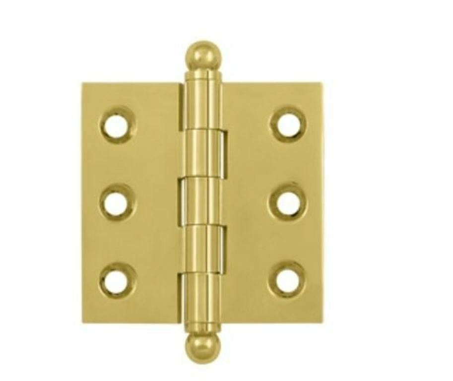 Cabinet Hinge 2 Quot X 2 Quot With Ball Tips Solid Brass In 10