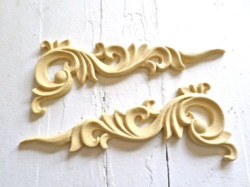 ARCHITECTURAL CARVED CORNERS FURNITURE APPLIQUES-WOOD &RESIN-FLEXIBLE