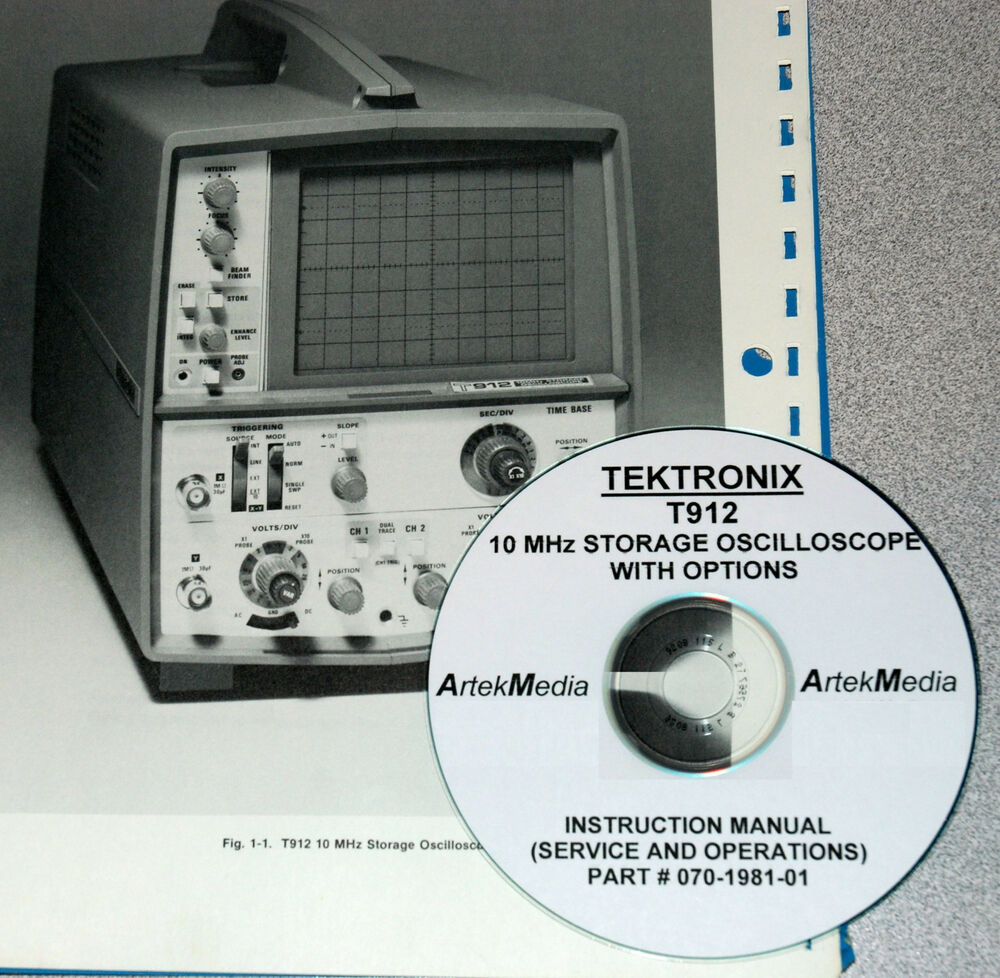 Amp On An Oscilloscope : Tektronix t storage oscilloscope operating service