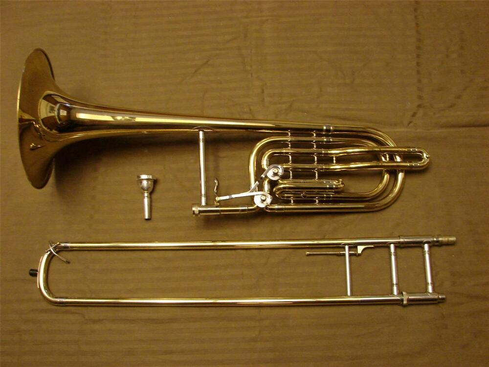 fe olds super s23 double trigger bass trombone 10quot bell