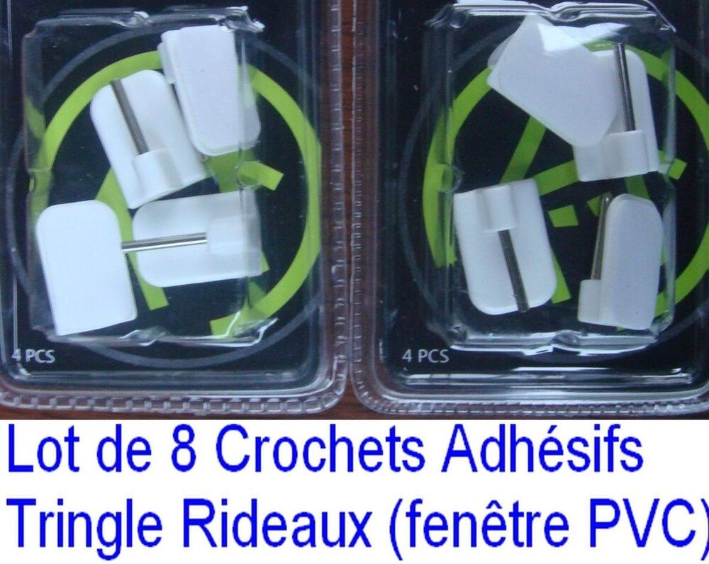 8 crochets adh sif support tringle rideau fen tre pvc plastique voilage en vrac ebay. Black Bedroom Furniture Sets. Home Design Ideas
