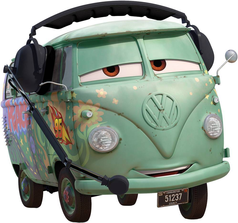 Fillmore Vw Cars Movie Disney Decal Removable Wall Sticker