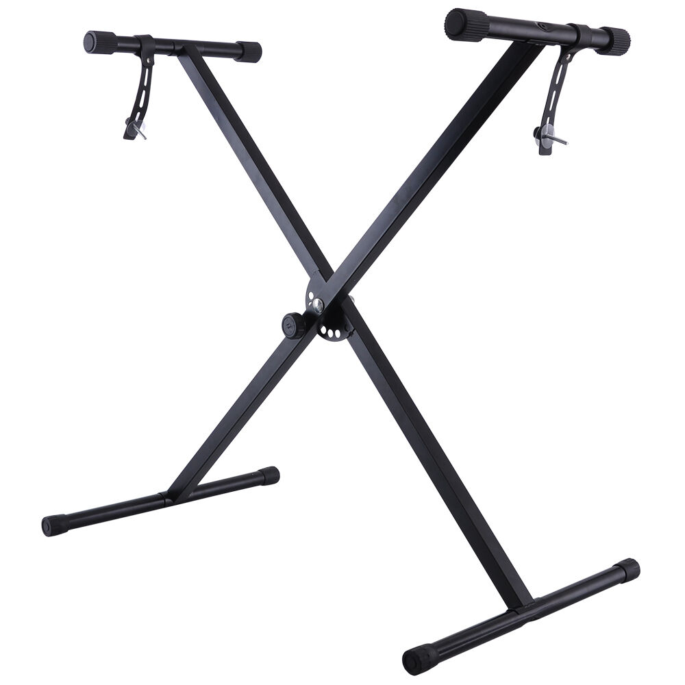 Black Adjustable Height Keyboard Piano X Stand Electric