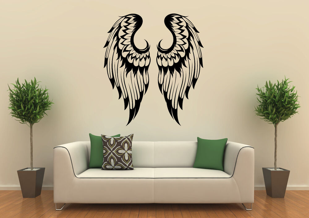 wandtattoo engelsfl gel engel fl gel ebay. Black Bedroom Furniture Sets. Home Design Ideas