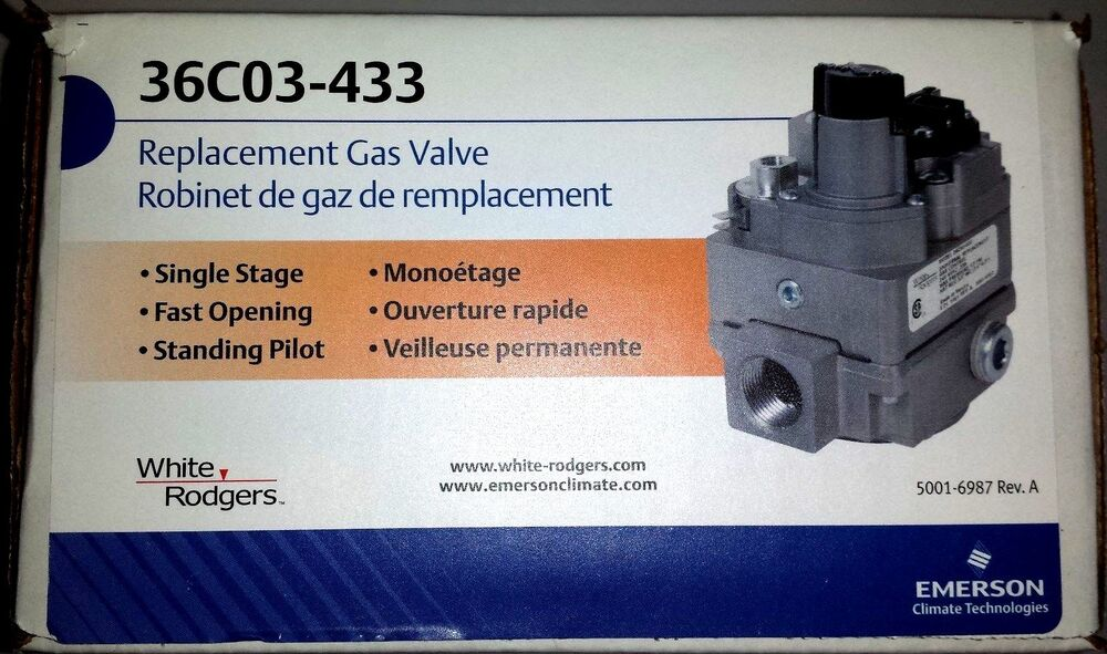 White Rodgers Replacement Gas Valve 36c03 433 Ebay