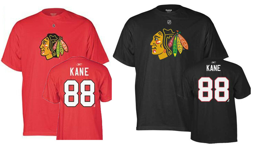 Chicago blackhawks 88 patrick kane name and number t for Patrick kane mullet shirt