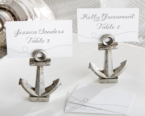 Nautical Wedding Gift Card Holder : 36 Nautical Anchor Beach Theme Place Card Holders Wedding Favors ...