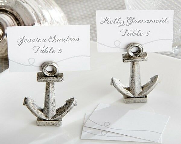 Wedding Gift Card Holder Beach Theme : ... Nautical Anchor Beach Theme Place Card Holders Wedding Favors eBay