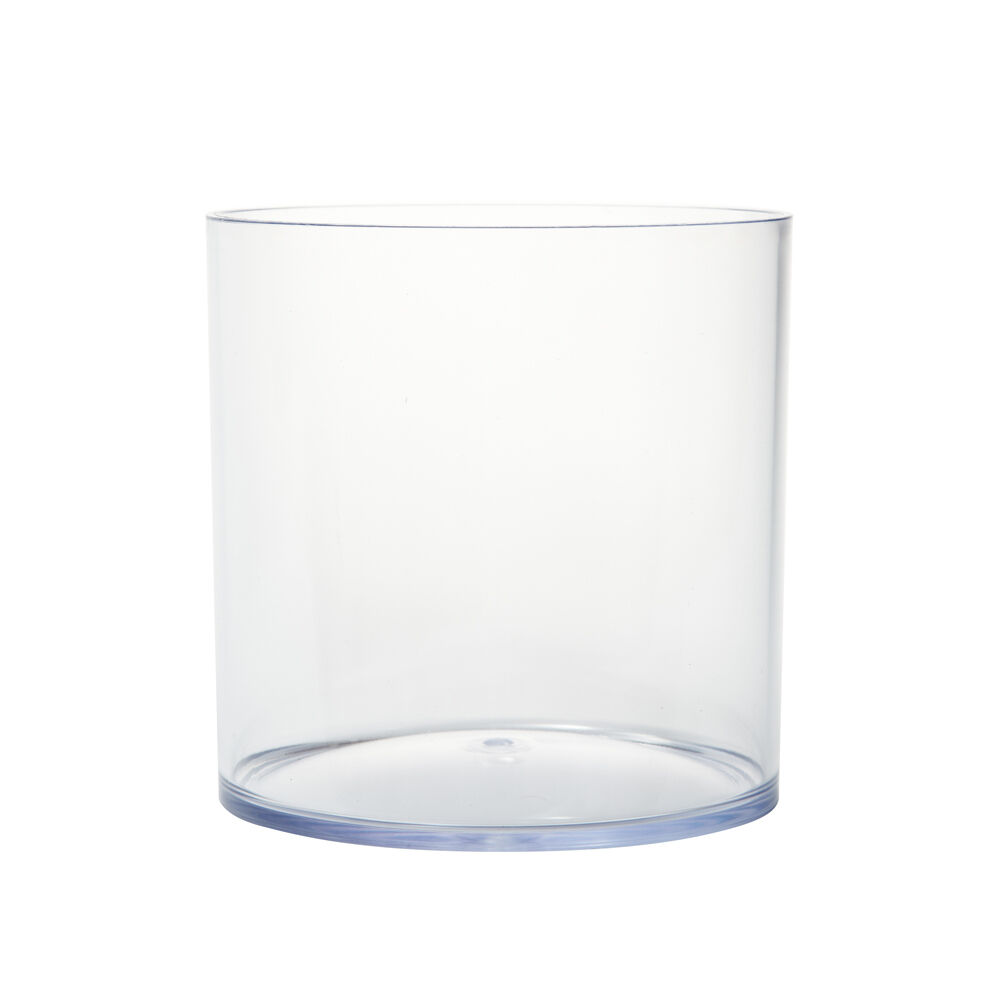 15cm Clear Acrylic Cylinder Vase Lightweight Durable