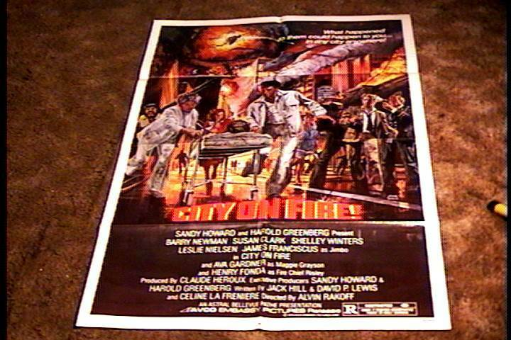 1979 Movie Posters: CITY ON FIRE ORIG MOVIE POSTER 1979 LESLIE NIELSEN