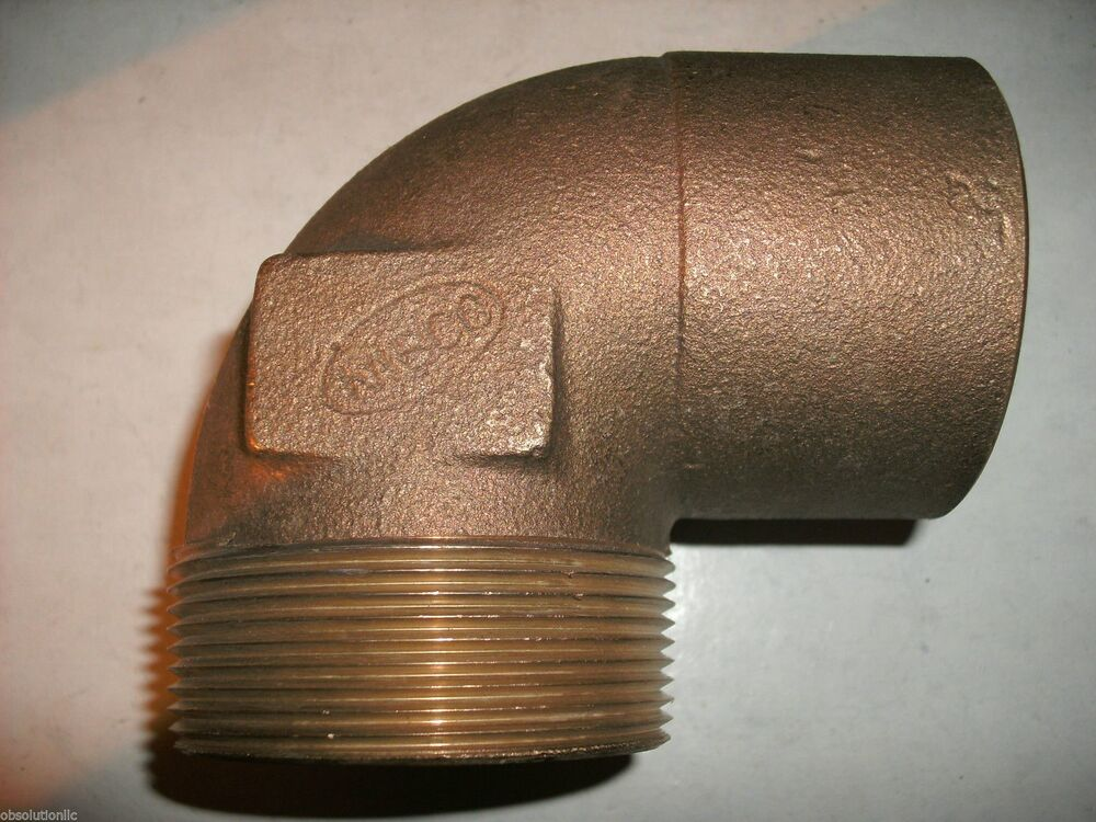 Cast copper quot elbow c mip plumbing fitting ebay