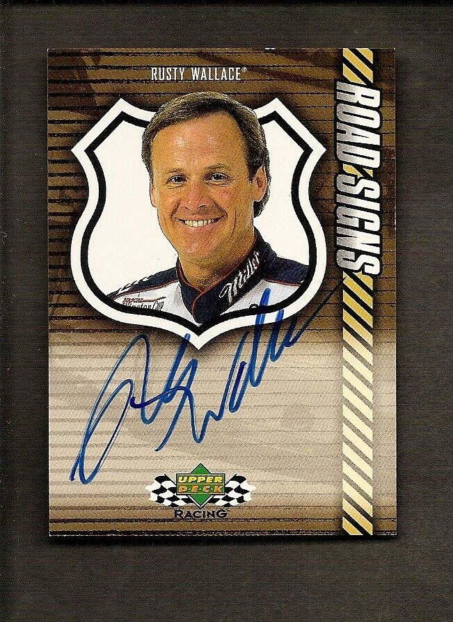 2000 upper deck racing road signs rusty wallace auto nascar sp ebay. Black Bedroom Furniture Sets. Home Design Ideas