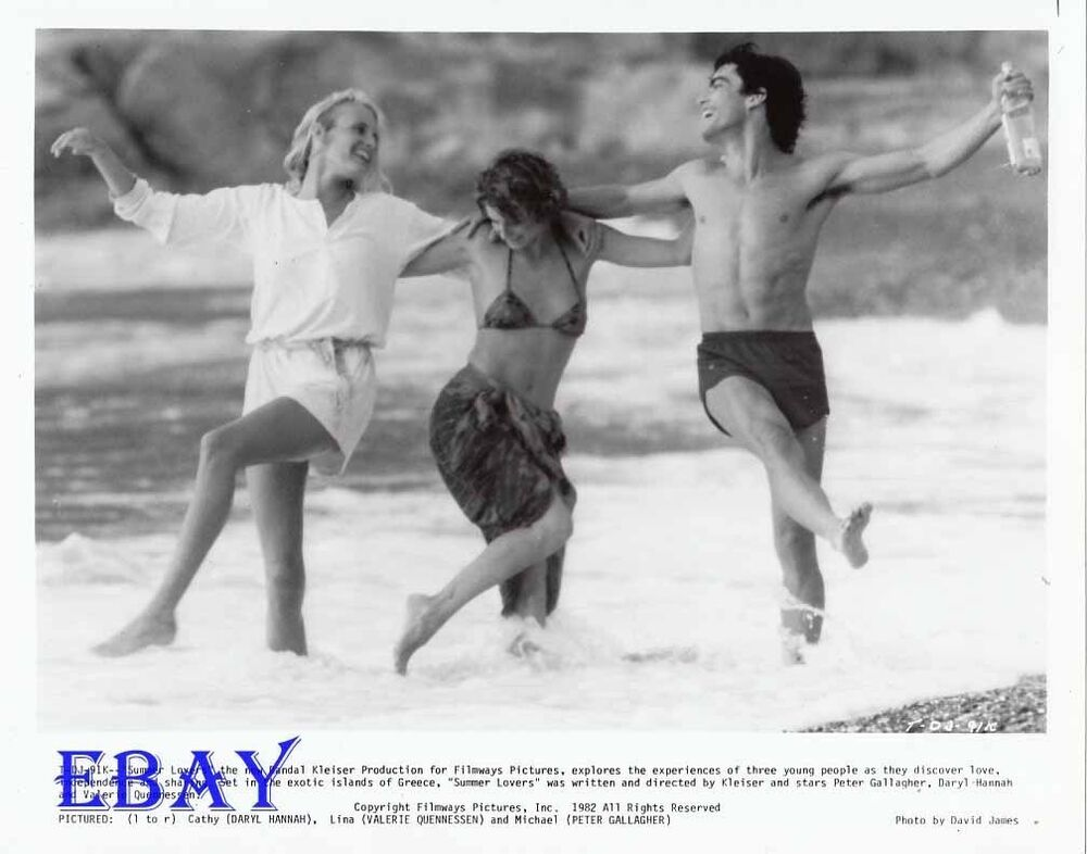 Daryl Hannah leggy, Peter Gallagher barechested VINTAGE ...