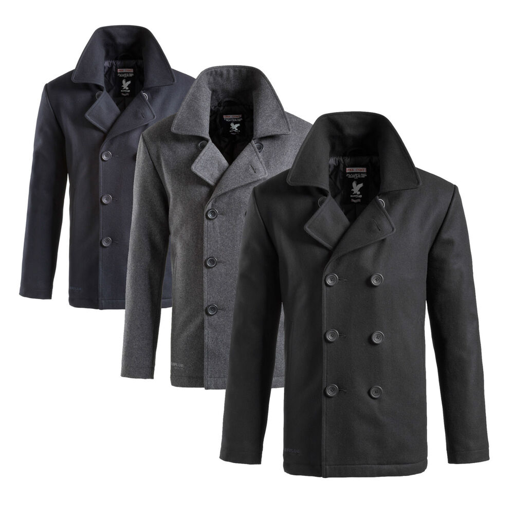 surplus pea coat herren us marine woll mantel caban colani jacke kurzmantel ebay. Black Bedroom Furniture Sets. Home Design Ideas