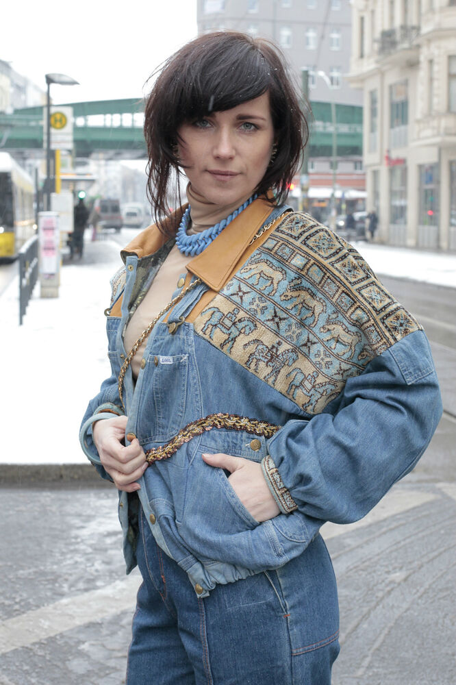 Jeansjacke Berlin Mode Prenzlauer Berg Jacket Denim 80er