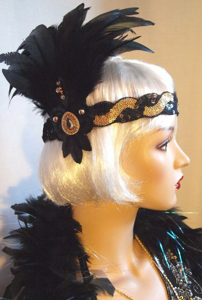 Chapeau Jules Vintage 1920 S Flapper Feather Headband