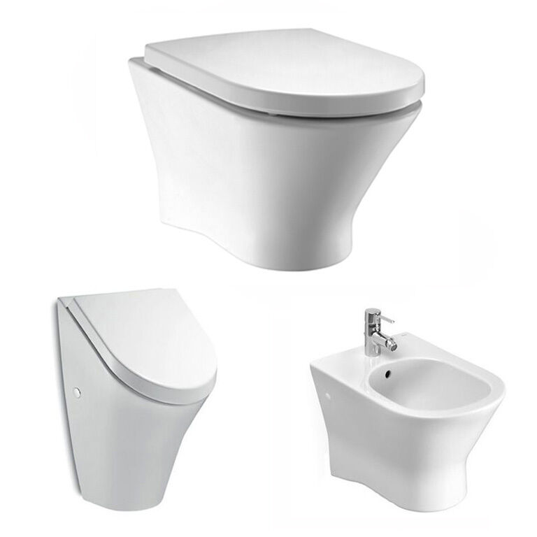 rockysoft wand wc sp lrandlos 734664l000 wc sitz softclose urina bidet roca nexo ebay. Black Bedroom Furniture Sets. Home Design Ideas