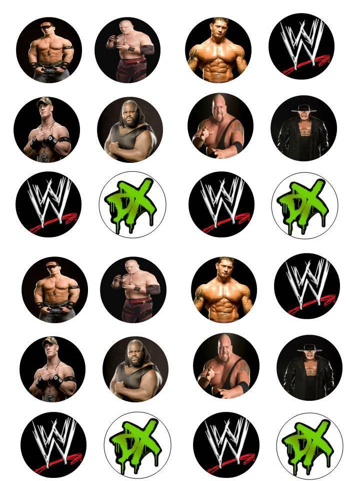 Edible Cake Images Wwe : 24X EDIBLE CUPCAKE CAKE TOPPERS DECORATION BIRTHDAY WWE ...