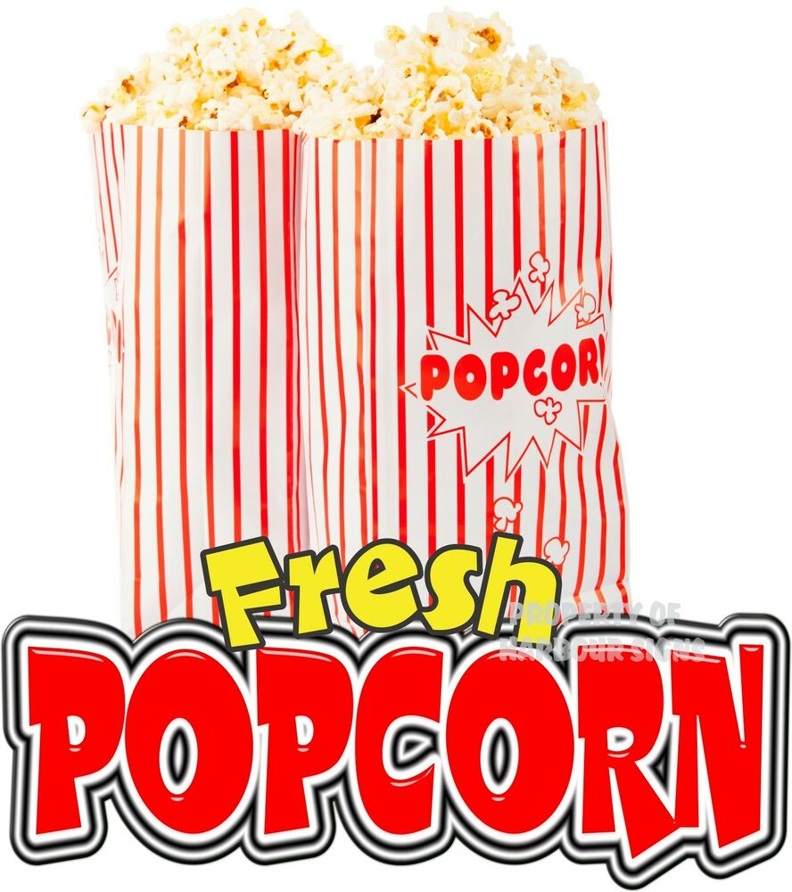 Fresh Popcorn 14 Quot Decal Concession Food Truck Cart Trailer