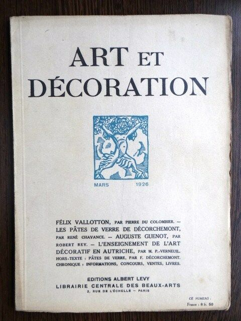 Art Et Decoration 1926 Deco Artistes Independants Verrerie D