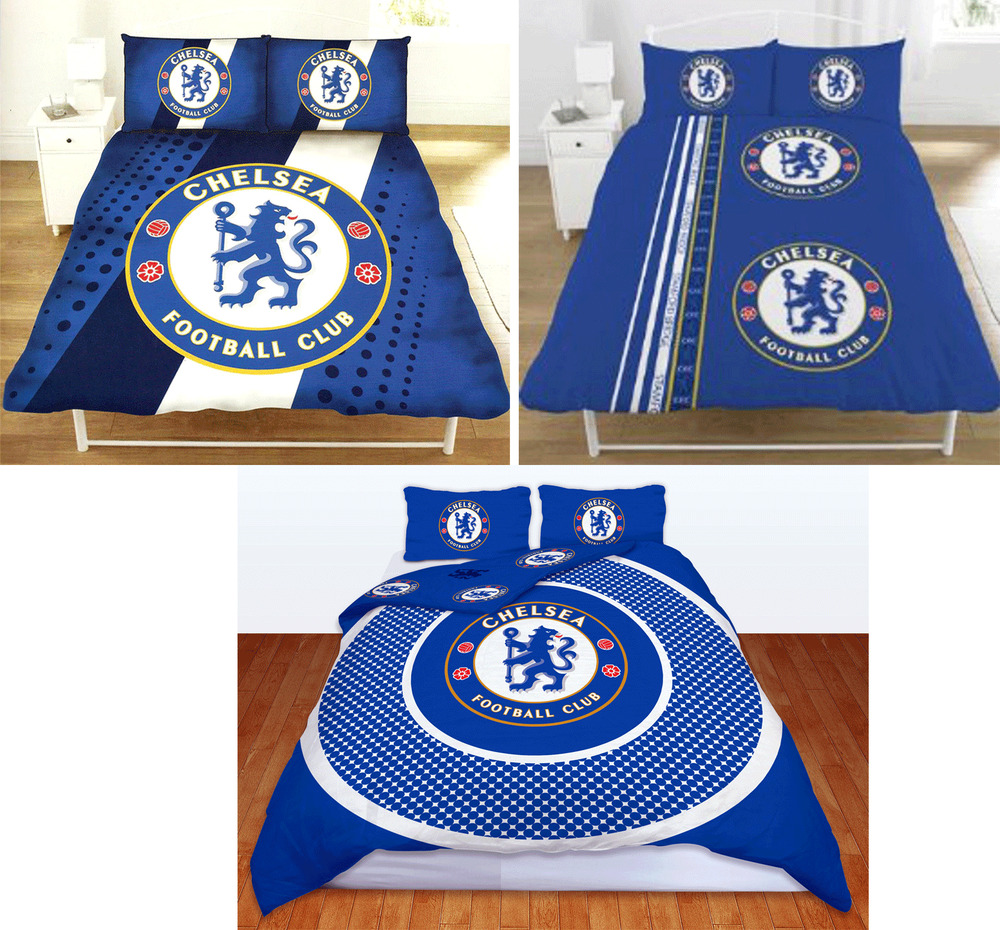 Official chelsea fc football club crest double duvet quilt for Crest home designs bedding