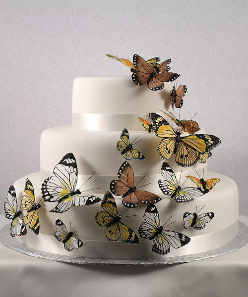 Natural Butterfly Butterflies Wedding Cake Decorations eBay