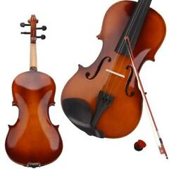 Kyпить New 4/4 Natural Acoustic Violin Set + Case+ Bow + Rosin For  Christmas Day Gift на еВаy.соm