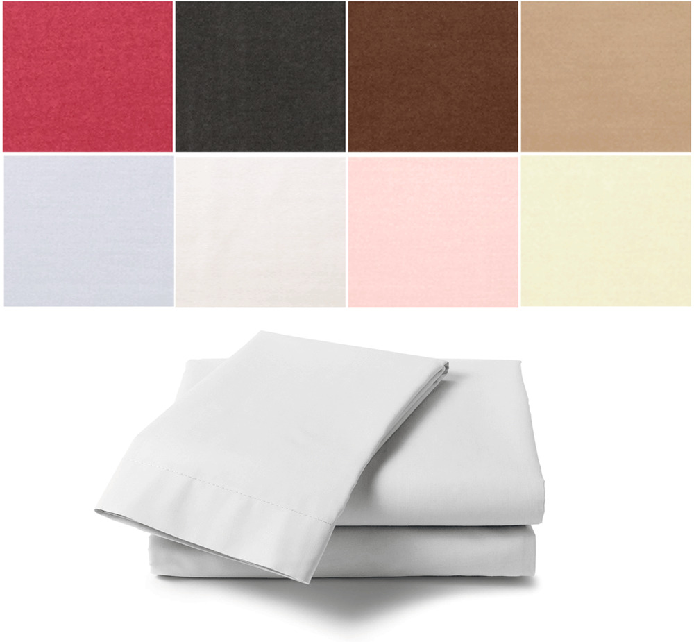 percale flat sheet 180tc polycotton single double king size bed choice colours ebay. Black Bedroom Furniture Sets. Home Design Ideas