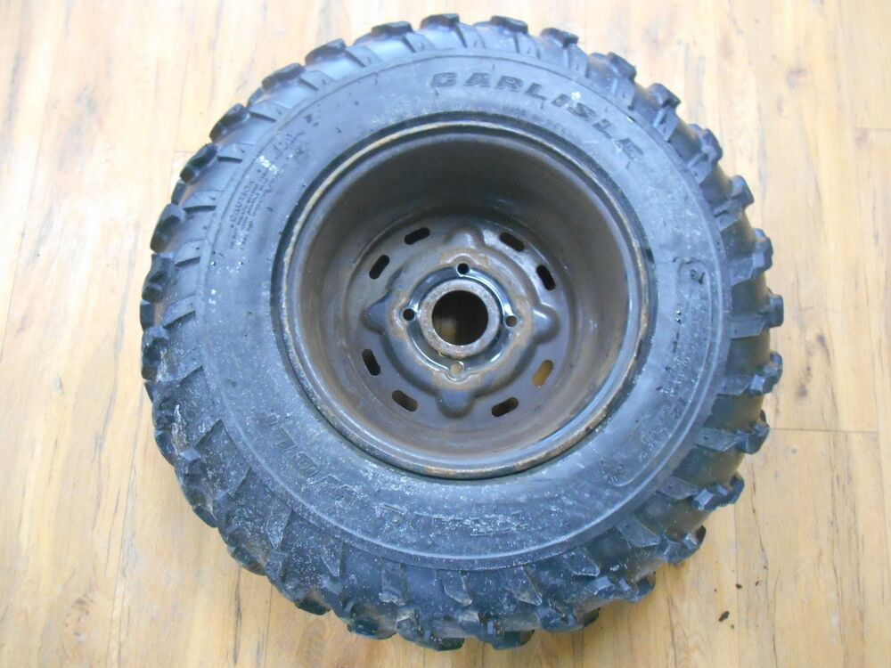 Four Wheeler Tyres : John deere buck ext four wheeler rear rim and tire part