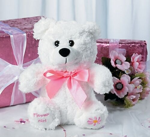 Flower Girl Wedding Gifts: WEDDING FLOWER GIRL STUFFED TEDDY BEAR BRIDAL PARTY