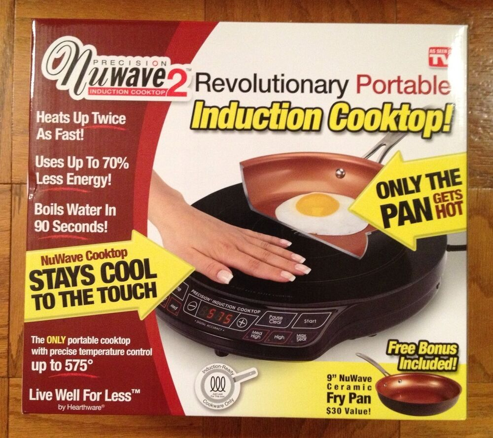 New Nuwave 2 Precision Portable Induction Cooktop W 9