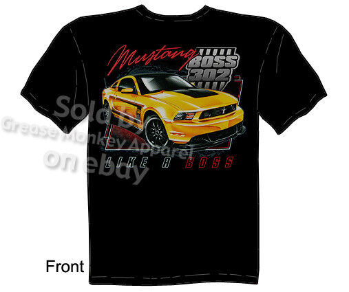 mustang t shirts ford shirt 302 boss ford mustang shirt. Black Bedroom Furniture Sets. Home Design Ideas