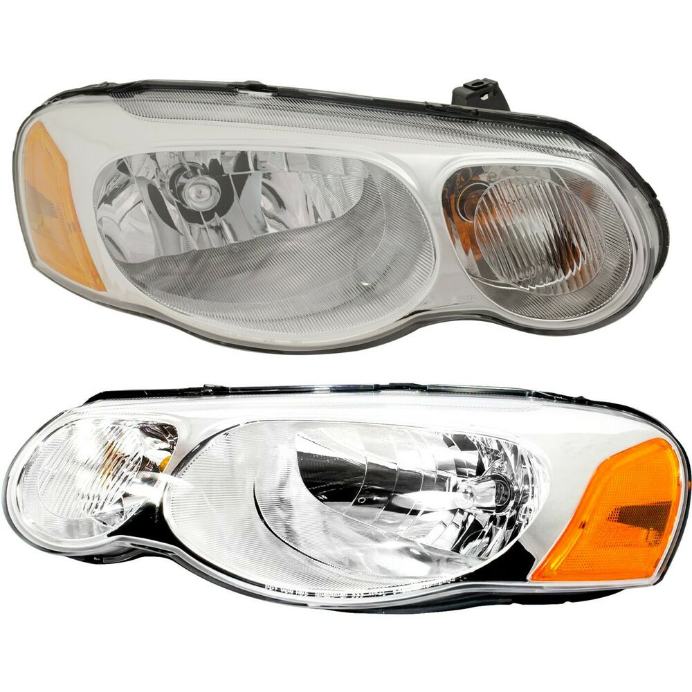 Details About Headlight Set For 2004 2005 2006 Chrysler Sebring Left And Right With Bulb 2pc