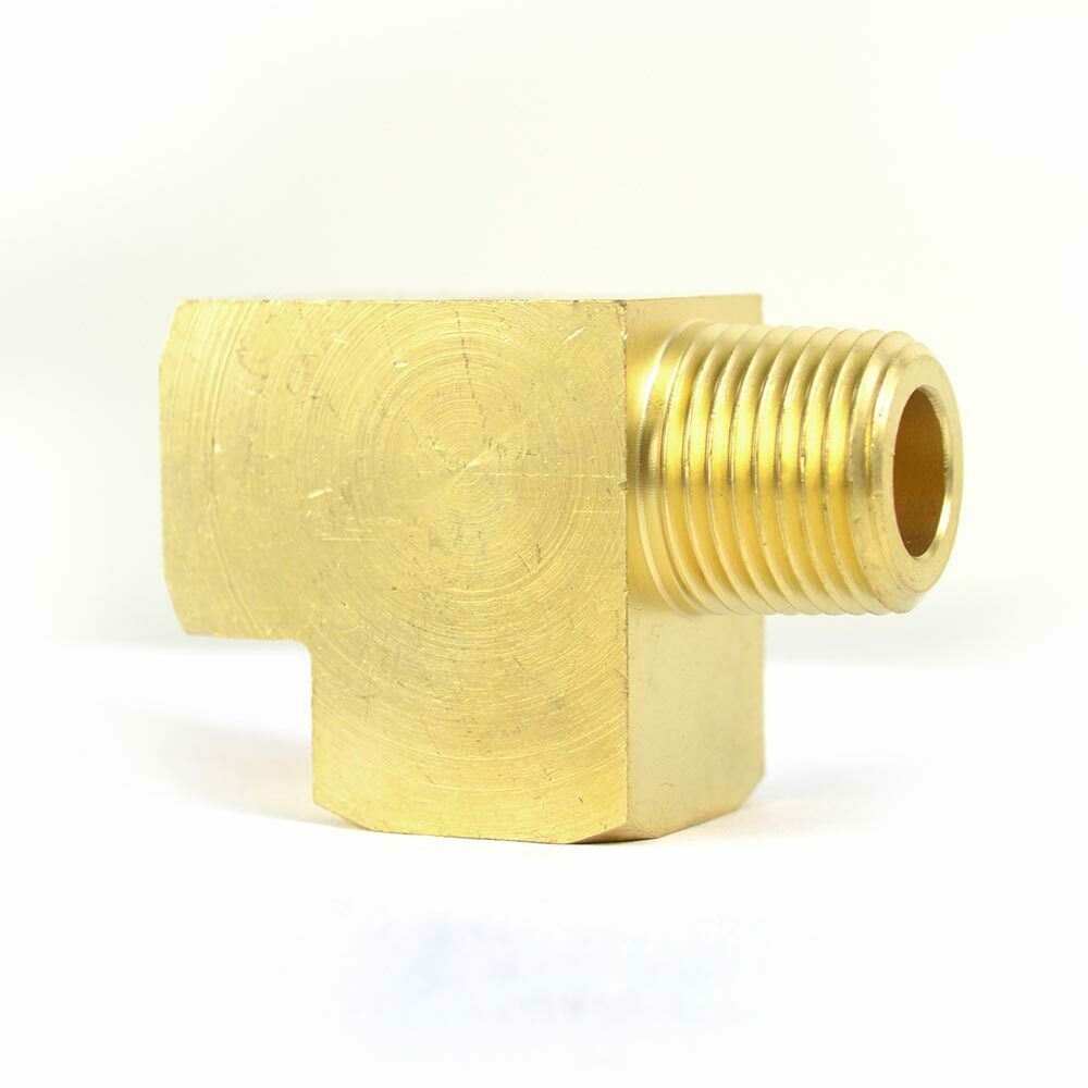 Solid brass street pipe tee fitting quot npt thread male