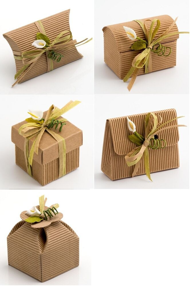 A Wedding Gift By Guy De Maupassant Analysis : Natural DIY KRAFT CORRUGATED Wedding Rustic Favour Gift Box Shabby ...